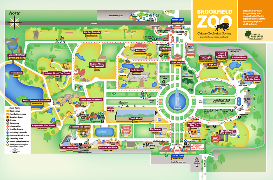 Brookfield Zoo Map