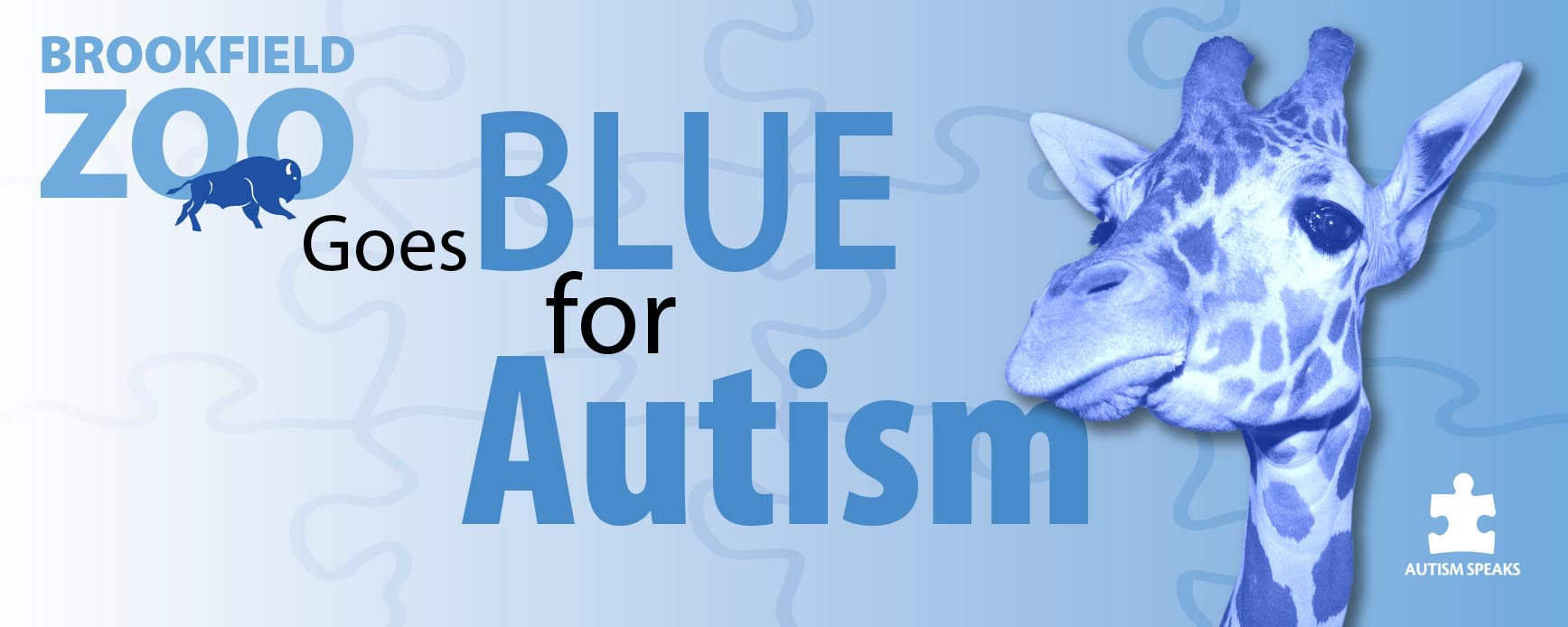 Brookfield Zoo Goes Blue for Autism