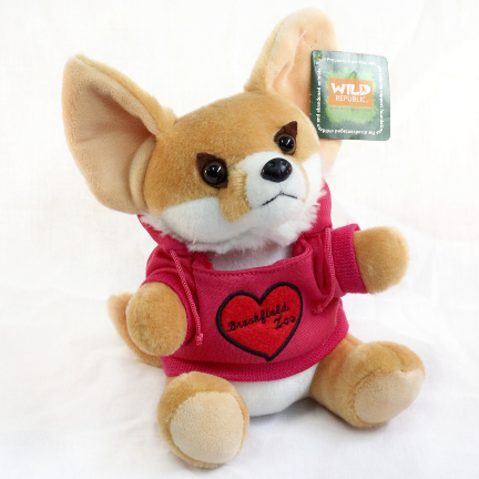 Chicago Zoological Society Fennec Fox Plush Pink
