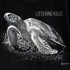 Sea Turtle Tee - Pollution Kills - Size M